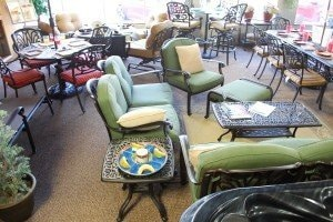 Darlee Outdoor Patio Furniture in Spa Warehouse showroom in Hagerstown, MD