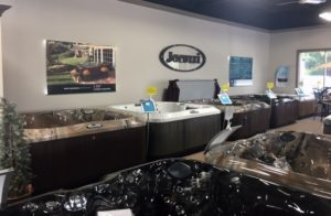 Spa Warehouse showroom of hot tubs and Jacuzzi Spas in Hagerstown, MD